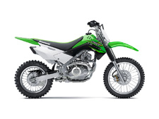 THE KLX140 OFF-ROAD MOTORCYCLE IS FUN FOR BOTH KIDS AND ADULTS ALIKE. IT FEATURES A PUSH BUTTON ELECTRIC START, SMOOTH POWER AND A CHASSIS THAT CAN TAKE ON TRAILS WITH CONFIDENCE.
